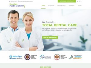 Dovedale Family Dentistry - Feature Portfolio Website