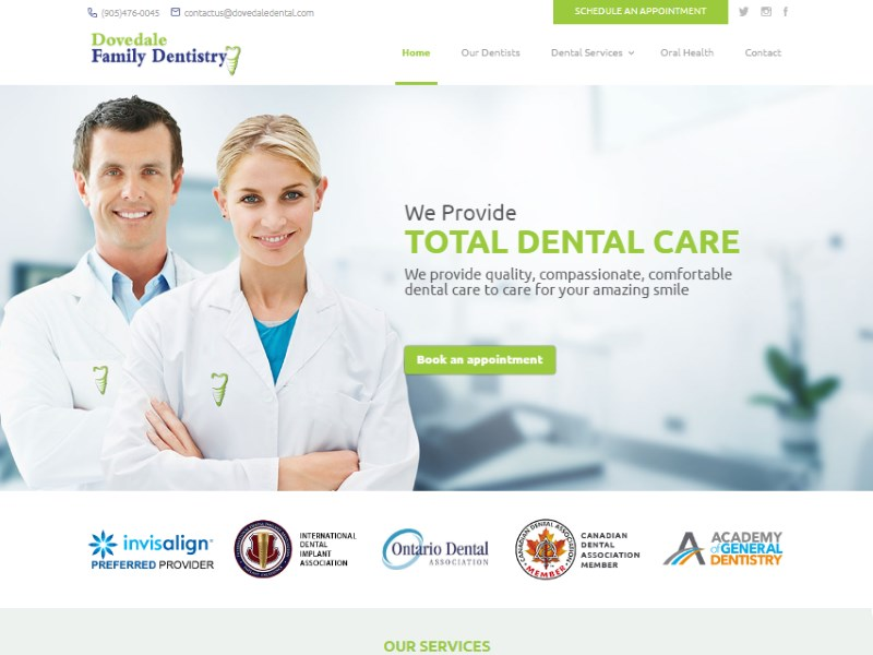 Feature Website – Dovedale Family Dentistry